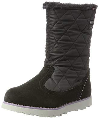 Viking Girls' Roea Slouch Boots, (Black/Old Rose 253), 10UK Child