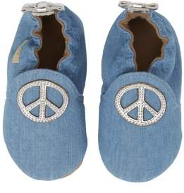 Robeez R) Peace Out Moccasin Crib Shoe
