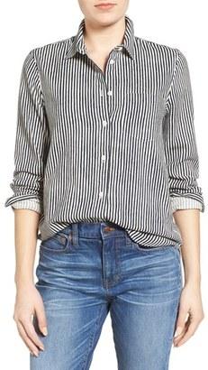 Women's Madewell Stripe Boyfriend Shirt $79.50 thestylecure.com