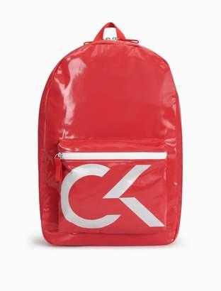 Calvin Klein liquid nylon zip backpack