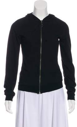Burberry Zip-Up Hooded Sweater