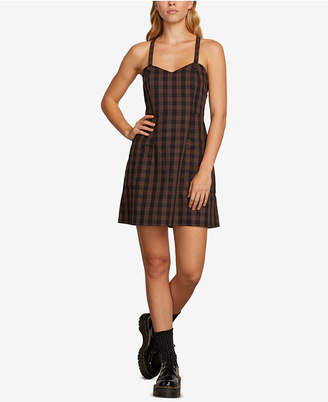 Volcom Juniors' Dare 2 Bloom Plaid Cami Dress