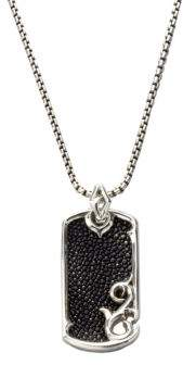 Stephen Webster Leather& Silver Dogtag Necklace