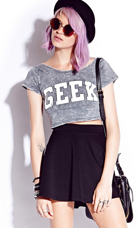 Forever 21 Geek Girl Crop Top