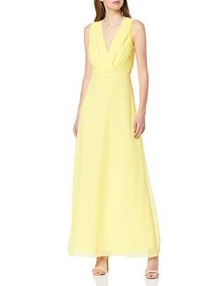 Vila CLOTHES Women's Vialli S/l Maxi Dress/dc, Blue Navy Blazer, (Size: 44)