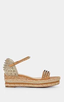 Christian Louboutin Women's Madmonica Spike Platform-Wedge Sandals - Beige, Tan