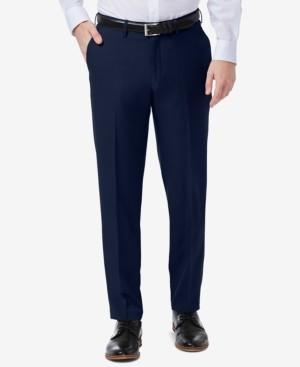 Haggar Men's Premium Comfort Slim-Fit Performance Stretch Flat-Front Dress Pants