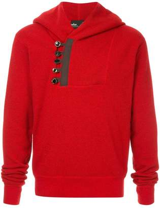 Kolor button embellished hoodie