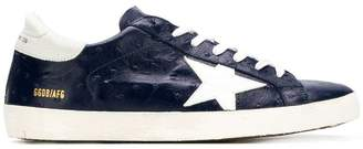 Golden Goose Superstar ostrich-embossed sneakers