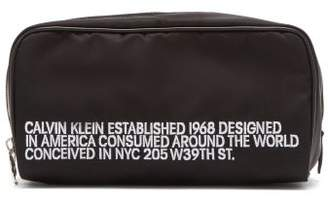 Calvin Klein Embroidered Wash Bag - Mens - Black White