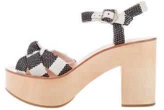 Loeffler Randall Platform Ankle Strap Sandals