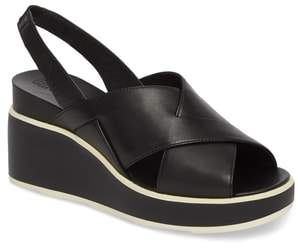 Camper Tropik Cross Strap Wedge Sandal