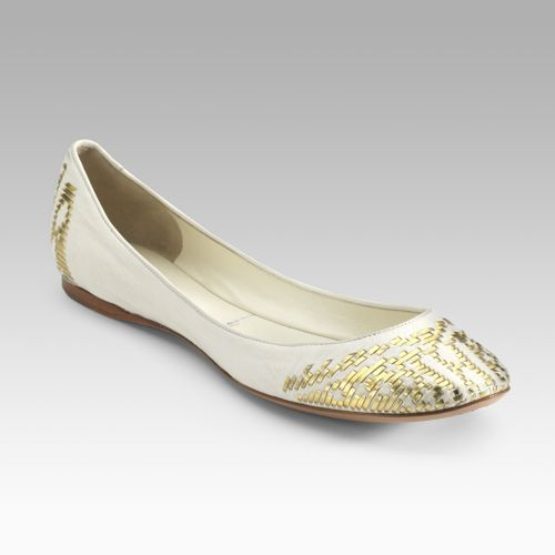 Sigerson Morrison Woven Ballet Flats