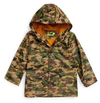 Western Chief Camo Print Hooded Raincoat