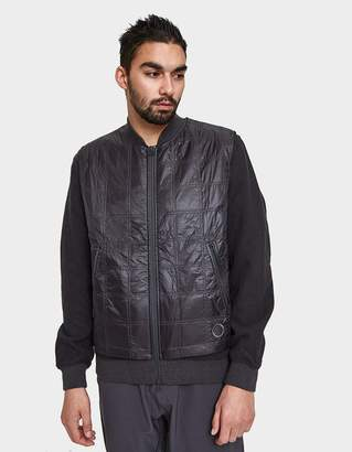 Wings + Horns Adidas X Wings+Horns Bomber Jacket in Utility Black