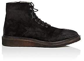 Barneys New York MEN'S CREPE-SOLE OILED SUEDE BOOTS-BLACK SIZE 8 M