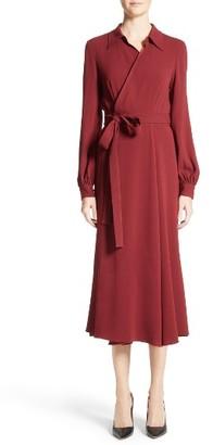 Women's Co Crepe Midi Wrap Dress $975 thestylecure.com