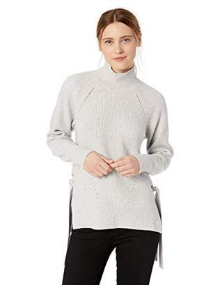 Rebecca Taylor Women's Ribbed Turtleneck Tie Pullover