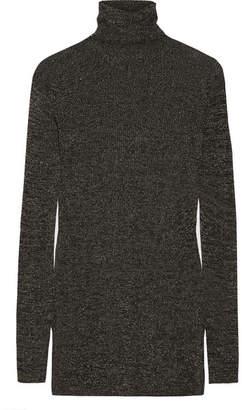 Prada Metallic Ribbed-knit Turtleneck Sweater