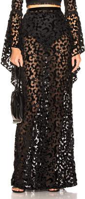 Sandra Mansour Labyrinthe de Velours Maxi Skirt