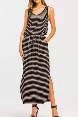 Cherish Drawstring-Waist Midi Dress