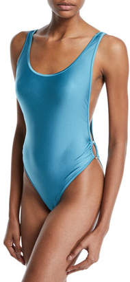 Agua de Coco Liso High-Leg One-Piece Swimsuit