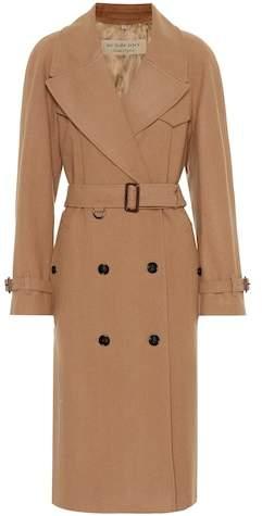 Buy Herringbone wool-blend trench coat!