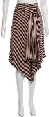 Jonathan Simkhai Striped Midi Skirt
