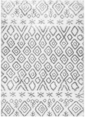 nuLoom Herzog Moroccan Diamond Shag Rug