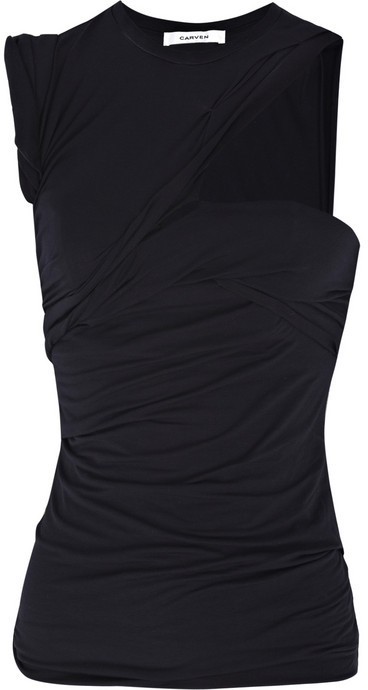 Carven Cutout jersey top