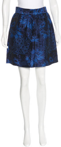 Alice + Olivia Alice + Olivia Jacquard Knee-Length Skirt w/ Tags
