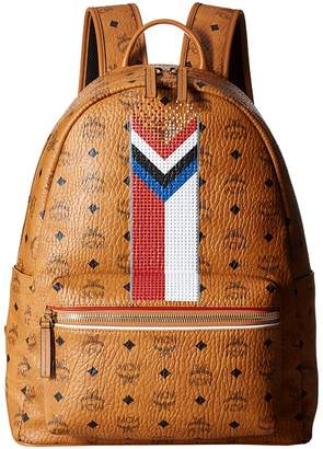 MCM Stark Chevron Stripe Visetos Backpack Backpack Bags