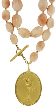 Cathy Waterman Conch Shell Bead Necklace - Yellow Gold