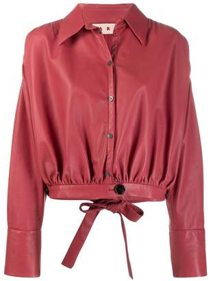Marni leather bluson