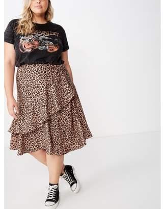 Cotton On Curve Ruffle Midi Skirt