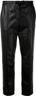 Yves Salomon cropped leather trousers