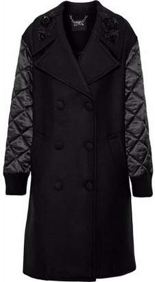 Markus Lupfer Quilted Satin-Paneled Wool-Twill Coat