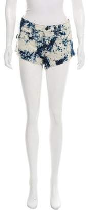 Zadig & Voltaire Acid Wash Mid-Rise Shorts w/ Tags