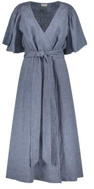 Masscob Sale - Linen Belted Wrap Dress