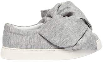 Joshua Sanders Bow Cotton Jersey Slip-On Sneakers