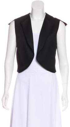 Saint Laurent Scoop Neck Open Vest