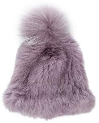 547427b9 Yves Salomon Fur Pom-Pom Beanie w/ Tags