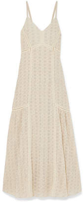 Jonathan Simkhai Crocheted Cotton-blend Gauze Maxi Dress - Cream