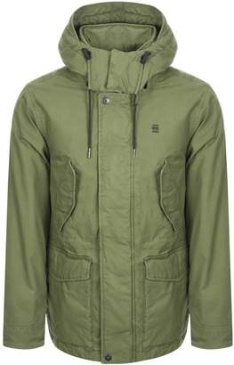 G Star Raw Vodan Padded Hooded Jacket Green