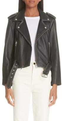 Ganni Angela Leather Jacket