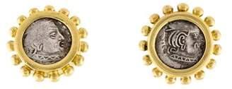 Elizabeth Locke 18K Ancient Coin Earrings