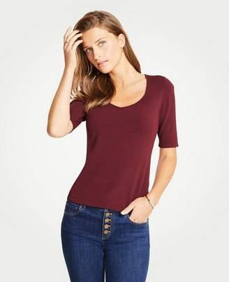 Ann Taylor V-Neck Short Sleeve Sweater