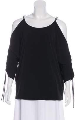 MICHAEL Michael Kors Cold Shoulder Jersey Top