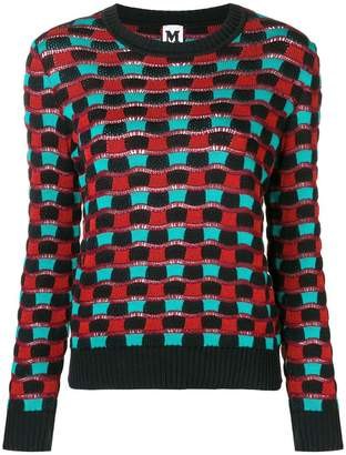 M Missoni wave effect knitted sweater