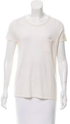 Tamara Mellon Semi-Sheer Cashmere Top